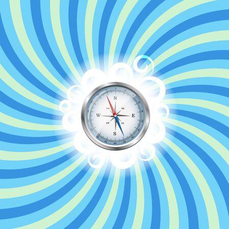 Glossy Compass Illustration Stock Illustration - 20831232