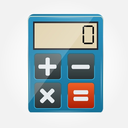 felt: calculator icon illustration