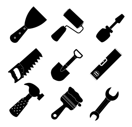Different tools icon illustration set1 Vector