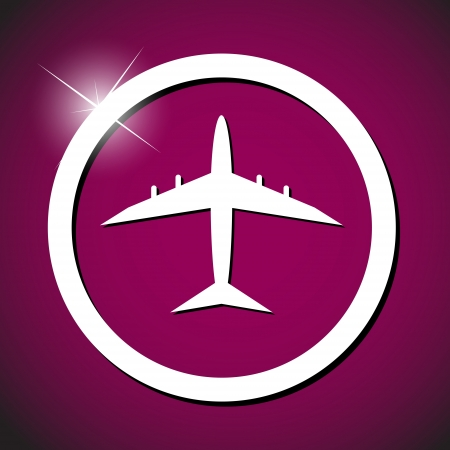 plane icon vector illustration illustration