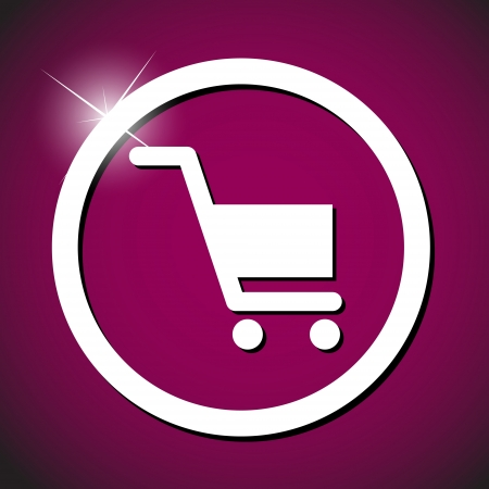 technology symbols metaphors: shopping  cart icon vector  illustration