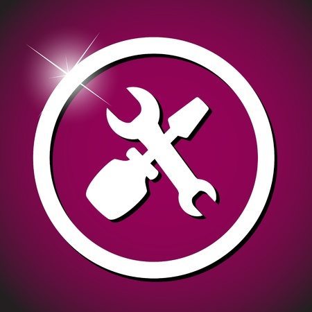repair computer: repair icon vector illustration Stock Photo
