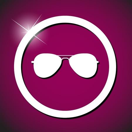 sun glasses icon vector illustration Stock Illustration - 20824375