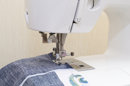 making dresses: Sewing machine with needle