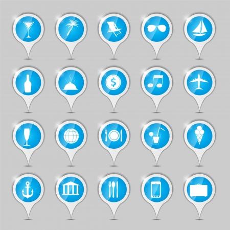 travel icons illustration illustration