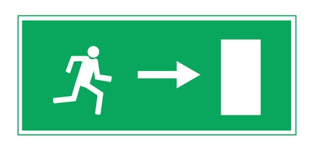 away from it all: Fire exit illustration