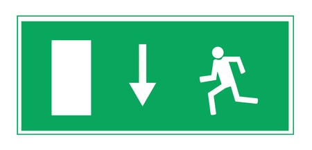 going green: Fire exit illustration