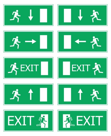 Fire exit illustration