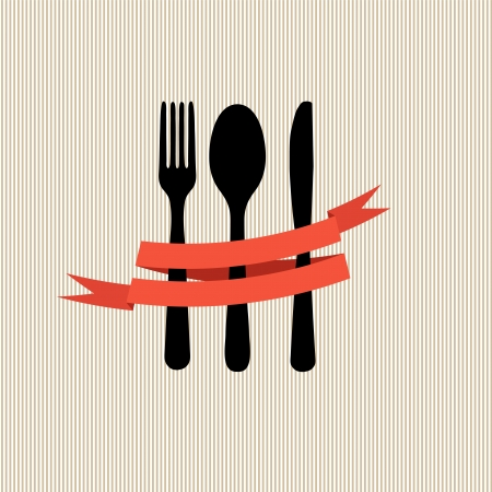 spoon: Restaurant menu template in retro style illustration Illustration