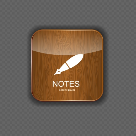 Notes  application icons vector illustration Vector
