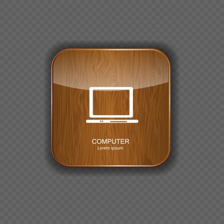 ic�ne logiciel: les ic�nes des applications en bois informatiques