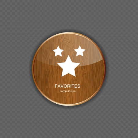 favourites: Favourites wood application icons vector illustration