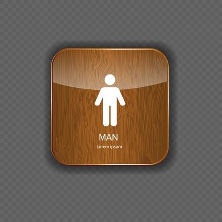 Man application icons vector illustration Stock Vector - 21878263