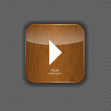 plate camera: Music wood application icons vector illustration