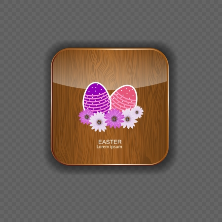 Easter wood application icons vector illustration Stock Vector - 21878333