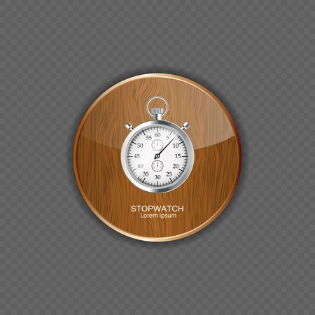 Stopwatch wood application icons vector illustration Vector
