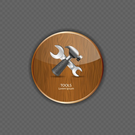 Tools wood application icons vector illustration Stock Vector - 21878506