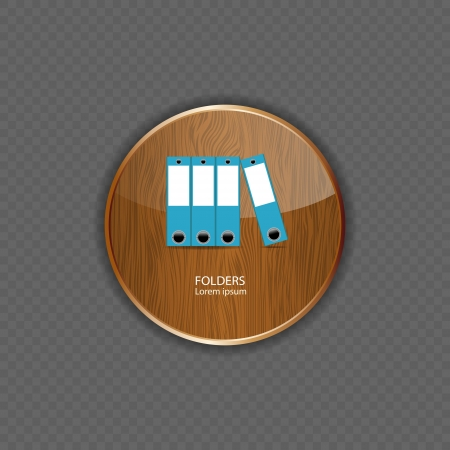 Folders wood application icons vector illustration Vector