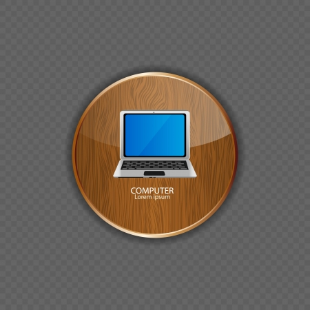 Computer wood application icons vector illustration Stock Vector - 21878545