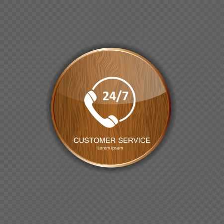 expressing positivity: Customer service wood application icons