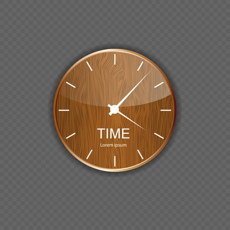 Watch wood application icons Illustration