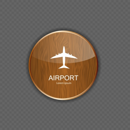 private jet: Airport application icons vector