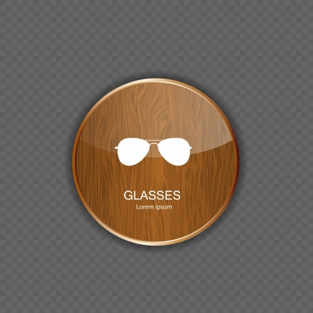 owe: Glasses application icons vector illustration