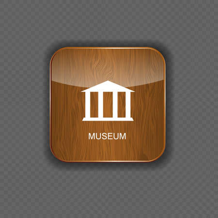 Museum application icons vector illustration Vector