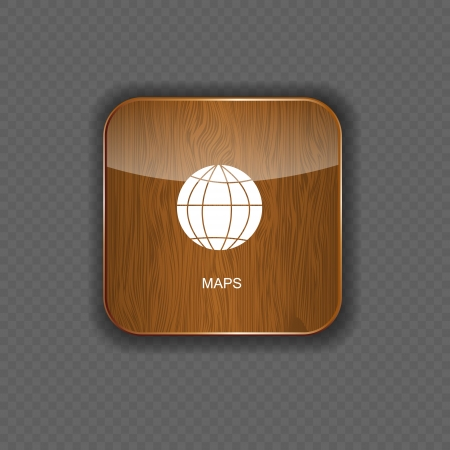 Map wood application icons vector illustration Vector