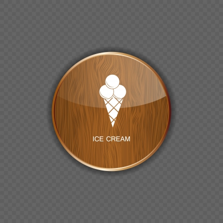 Ice cream application icons vector Vector