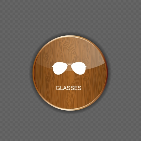 Glasses application icons vector illustration Vector