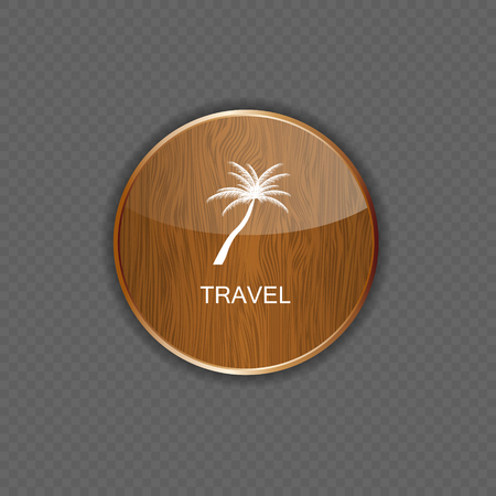 Travel application icons vector illustration Vector