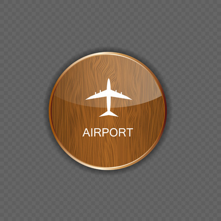 Airport application icons vector Vector