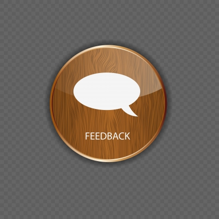 Feedback wood  application icons Stock Vector - 22258203