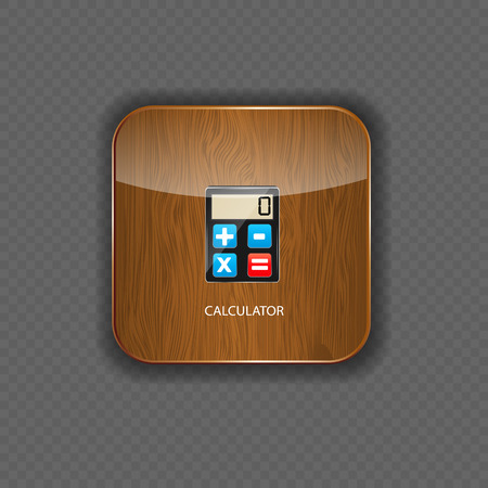 Calculator wood application icons vector illustration Stock Vector - 22258356