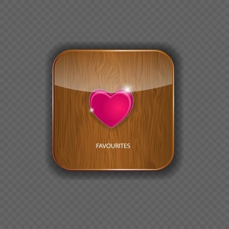 Heart wood application icons vector illustration Vector