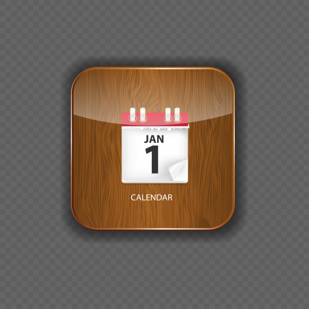 Calendar wood application icons vector illustration Vector