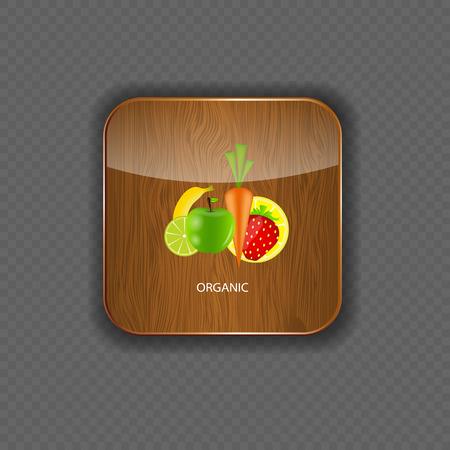 Organic wood application icons vector illustration Vector
