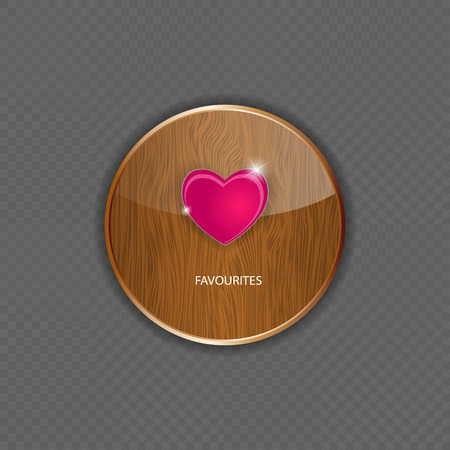Heart wood application icons vector illustration Stock Vector - 22258537