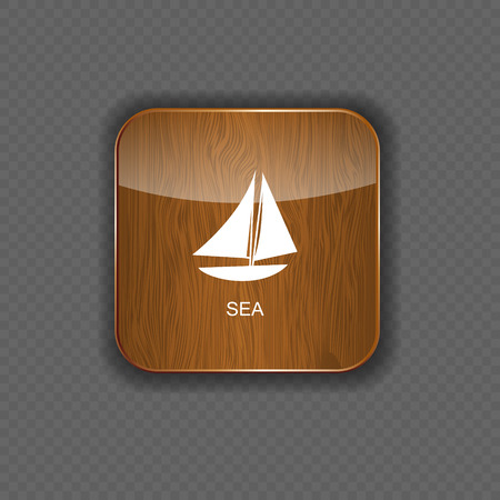 Sea wood  application icons vector illustration Vector
