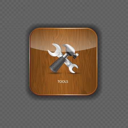 Tools wood application icons vector illustration Vector