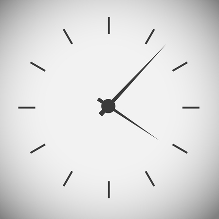 clock face: Watch wood application icons Illustration