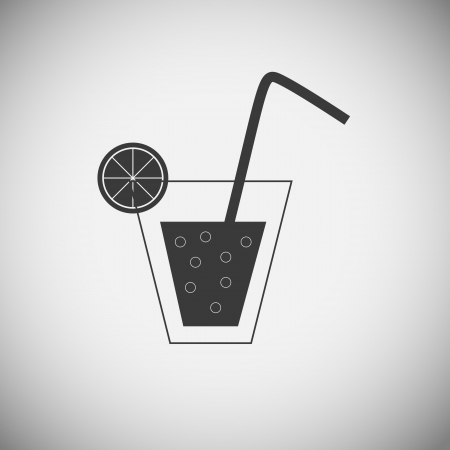 Drink wood application icons Vector