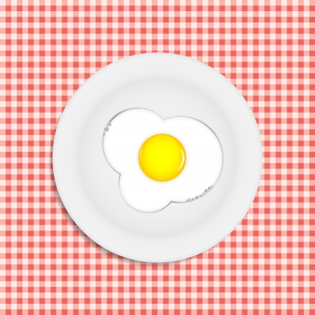 Fried eggs vector illustration Stock Vector - 22473988