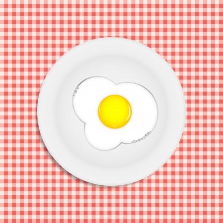 Fried eggs vector illustration Stock Vector - 22473988