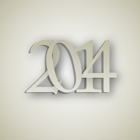2014 New Year background vector illustration Vector