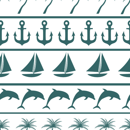 Sea seamless pattern background vector ilustration Vector