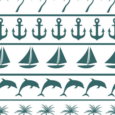 hermit: Sea seamless pattern background vector ilustration