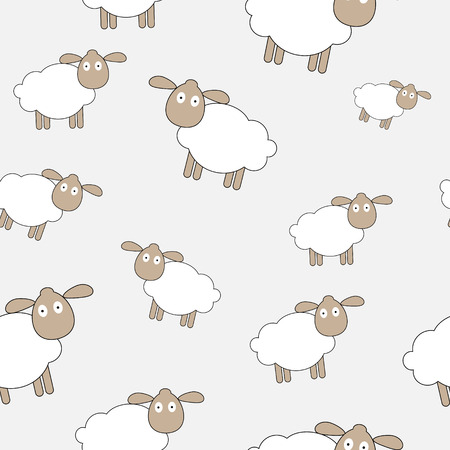 Abstract lamb seamless pattern background vector illustration Vector
