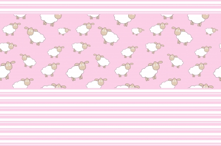 Abstract lamb background vector illustration Vector